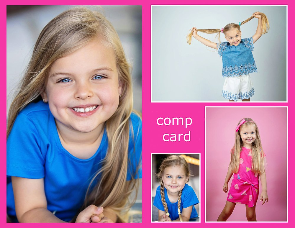 example of child comp card for modeling