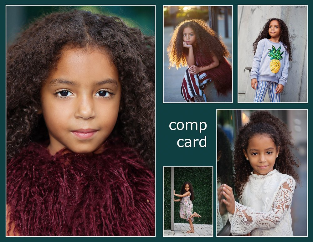 comp card for modeling example