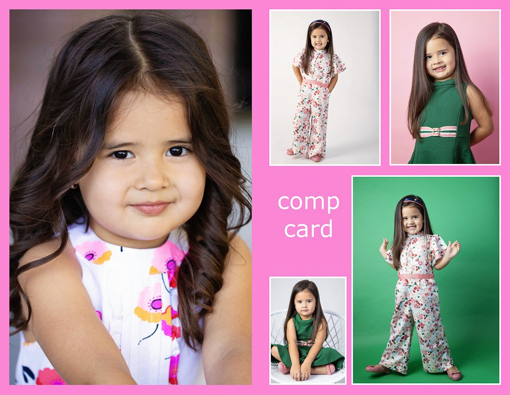 kids modeling photoshoot